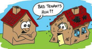Avoiding property damage through bad tenancies